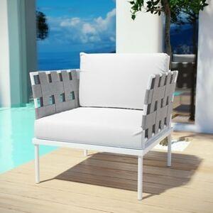 Modway Harmony Outdoor Patio Aluminum Armchair (White)