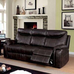Benzara Karlee Transitional Style Plush Sofa, Dark Brown
