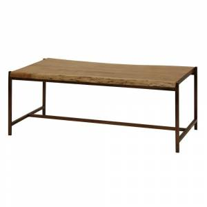StyleCraft Home Collection Solid Acacia Wood Live Edge Natural Stain Coffee Table (Acacia)