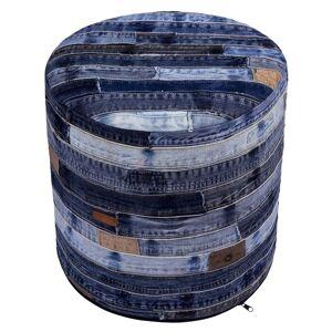 """St. Croix 17"""" Blue Jeans Re-purposed Pouf"""