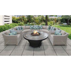 TK Classics Coast 8 Piece Outdoor Wicker Patio Furniture Set 08k (Beige)