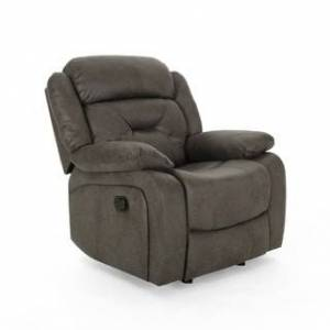 Christopher Knight Home Horatius Traditional Overstuffed  Glider Recliner with Microfiber Upholstery by Christopher Knight Home (slate + black)