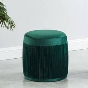 Silver Orchid Bergere Contemporary Ottoman (Green)