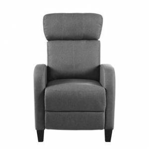 Overstock Plush Small Space Manual Recliner Chair with High Density Foam (Dark Grey)