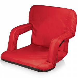 Oniva Ventura Seat Red Backpack Strap Portable Recliner (Ventura Seat - Red - portable recliner featuring backpack straps)