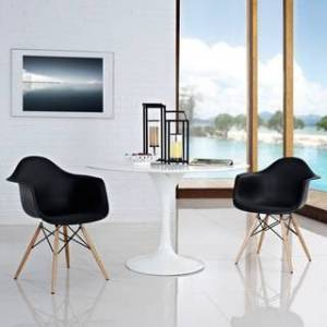 Modway Pyramid Dining Chairs (Set of 2) (Black)