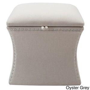 Taylor Jennifer Taylor Holly Storage Ottoman (Solid - Fabric/Upholstered - sky neutral)