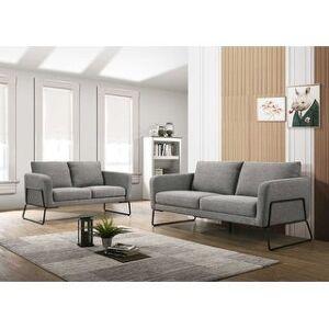Bella Brolin Heights Modern Seating Set with Sofa, Loveseat & Armchair (Gray)
