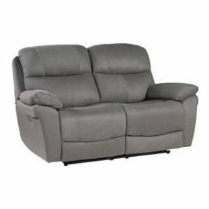 Fremont & Park Mono Power Double Reclining Love Seat with Power Headrests (Grey)
