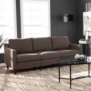 Harper Blvd Davis Transitional Fabric Oversized  Sofa (Brown)