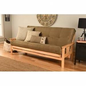 Somette Monterey Natural Futon Frame and Mattress (Suede Olive)