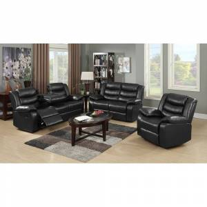 Bella Roth Reclining Living Room Sofa Set (Espresso - 2 Piece)