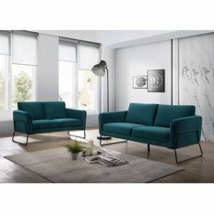 Bella Brolin Heights Modern Seating Set with Sofa, Loveseat & Armchair (Teal)