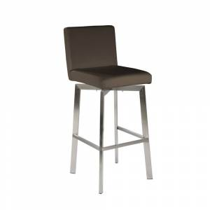 Aurelle Home Modern Barstool Grey (Stool)