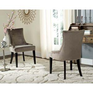 "Safavieh Dining Crusie Mushroom Dining Chairs - Nickel Nailheads (Set of 2) - 22"" x 24.8"" x 36.4"" (MCR4709G-SET2)"