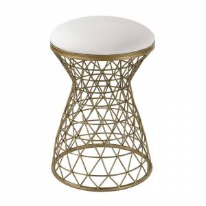 Sterling Wire Mesh Forms Bench (Off-White)