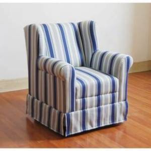 4D Concepts Girls Wingback Chair (White/Blue)