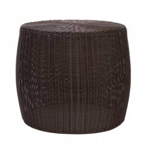 The Curated Nomad Tipton Brown Resin Wicker Side Table (Wicker - Brown)
