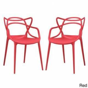 Modway Entangled 2-piece Dining Set (Red)