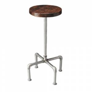 Butler Handmade Butler Piper Wood and Metal Bar Stool (India) (Multi-Color)