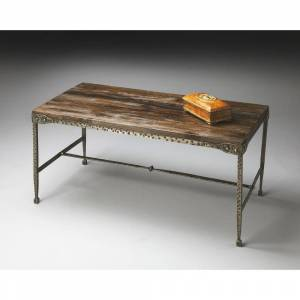 Butler Handmade Mountain Lodge End Table (India) (Iron/Wood - Rectangle - Cocktail Tables/Coffee Tables - Distressed Finish/Handmade - 3 and 4 Legs -