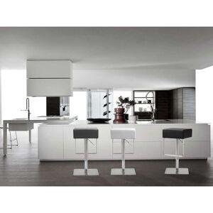 TOV Furniture Seville White Stainless Steel/Polypropylene Barstool (Single - White - Adjustable)