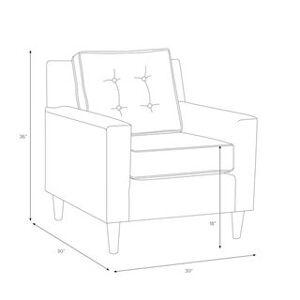 Skyline Furniture Premier Chocolate Arm Chair (Brown)