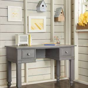 Hillsdale Kids and Teen NE Kids Lake House Stone Grey Wood Writing Desk (Includes Hardware - Wood - Assembly Required - Grey - Traditional - Wood - Student Desks/Writing