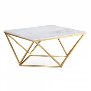 TOV Furniture Leopold White Marble Cocktail Table (Marble - Antique White)