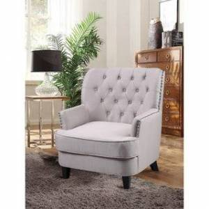 Best Master Furnitures Best Master Furniture ZH117 Fabric Living Room Arm Accent Chair (Taupe)