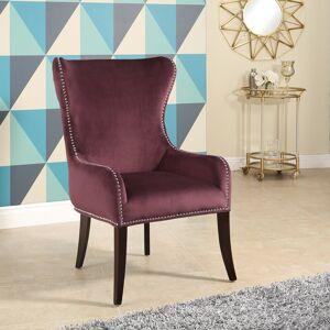 Abbyson Henri Tufted Purple Velvet Chair (Purple)