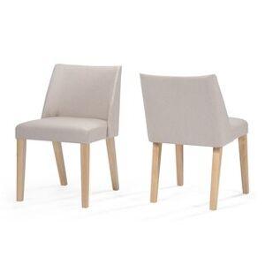 Christopher Knight Home Regina Fabric Armless Side Chair (Set of 2) by Christopher Knight Home (Wheat)