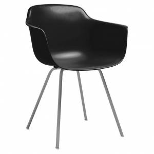Design Lab MN Grazia Armchair with Metal Base (Set of 4) (Slate - Upholstered/Metal)