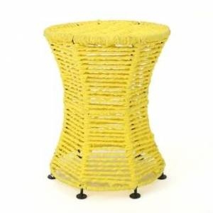 Christopher Knight Home Thackeray Fabric Round End Table by Christopher Knight Home (Yellow)