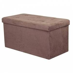 GGI INTERNATIONAL Sorbus Storage Bench Chest  (Small, Chocolate) (Sorbus Storage Bench Chest)
