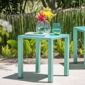 Christopher Knight Home Windsor Outdoor 16-inch Square Aluminum Side Table by Christopher Knight Home (Teal)