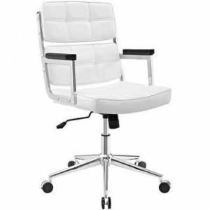 Modway Portray Highback Upholstered Vinyl Office Chair (White)