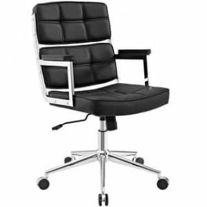 Modway Portray Highback Upholstered Vinyl Office Chair (Black)