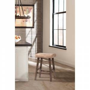 Hillsdale, Hillsdale Furniture Saddle Non-Swivel Backless Bar Stool, Rustic Gray (rustic gray)
