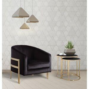 Chic Home Artemis Velvet Modern Contemporary Club Chair (Black)