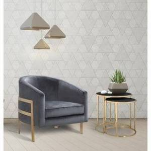 Chic Home Artemis Velvet Modern Contemporary Club Chair (Grey)