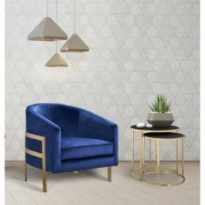 Chic Home Artemis Velvet Modern Contemporary Club Chair (Navy)