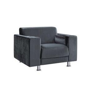 Chic Home Nancy Elegant Velvet Plush Cushion Seat Club Chair (Grey)