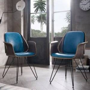 Corvus Marsala Industrial Mid-Century Accent Chair (Teal)