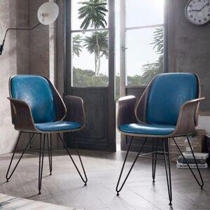 Corvus Marsala Industrial Mid-Century Accent Chair (Teal)