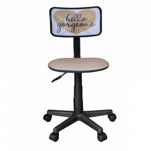 Overstock Urban Shop Rolling Mesh Chair with Text (Gold)
