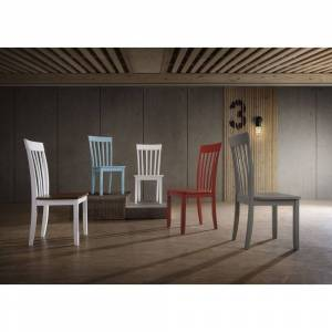 Hommax Furniture Slat-back Dining Chairs (Set of 2) (Blue)