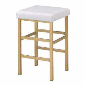 Porch & Den Moscato Gold 26-inch Backless Stool (White)