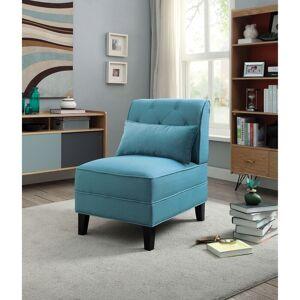 Overstock Riccio Slipper Chair (Baby Blue)