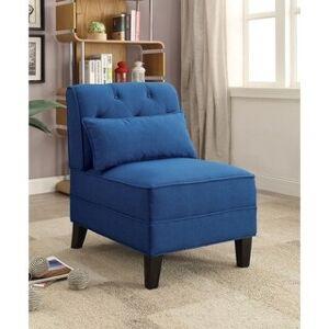Overstock Riccio Slipper Chair (Charcoal)
